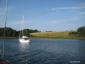 Yacht vor Anker in der Dywig