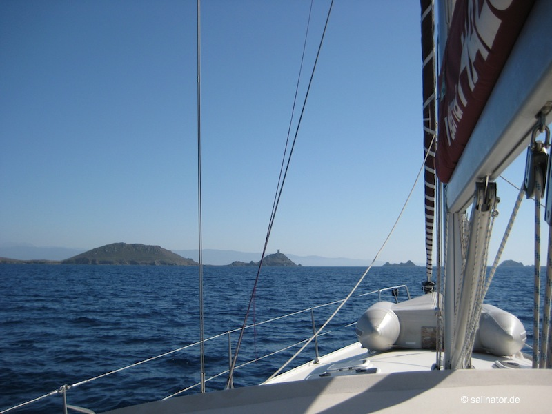 Entlang der Küste von Korsika
