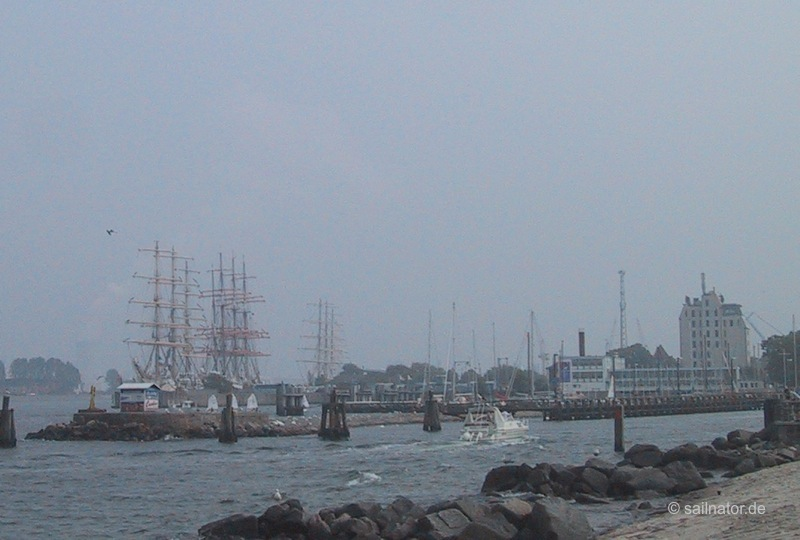 Windjammer in Warnemünde
