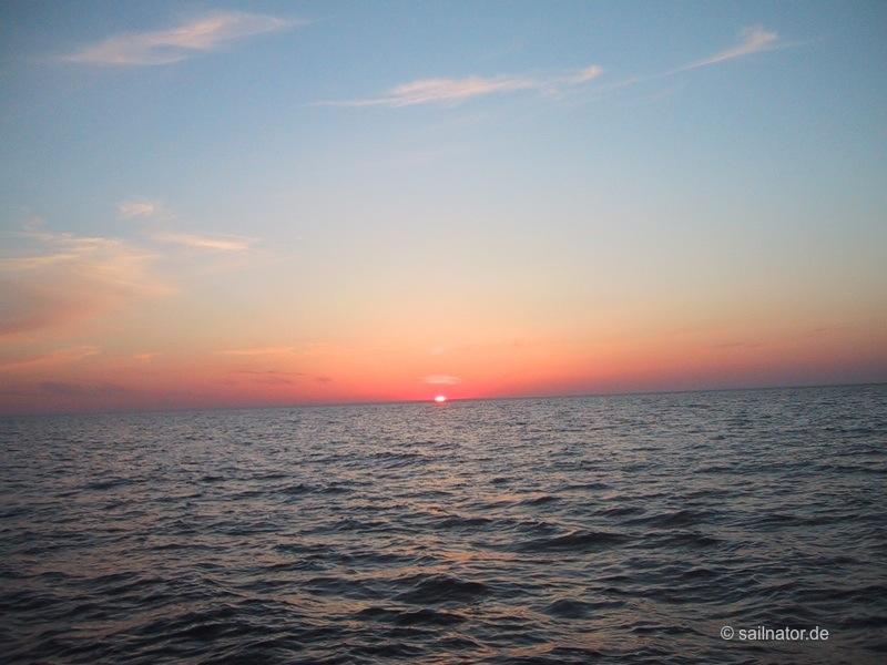 Sonnenuntergang um 22.14 Uhr