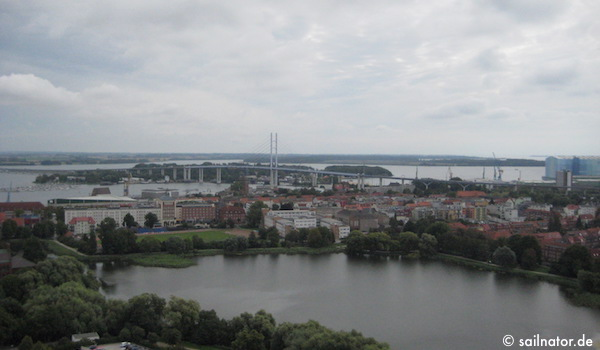 Aussicht auf die Rügenbrücke